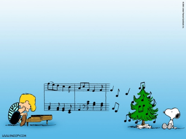 The-peanuts-music-christmas-wallpaper-christmas-cartoons
